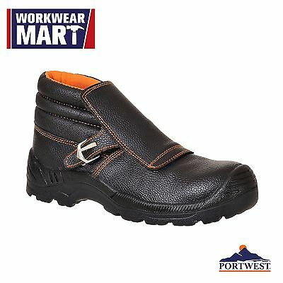 Safety Work Boots Welders Shoes Composite Toe Non Metallic, Leather 6-12, FW07