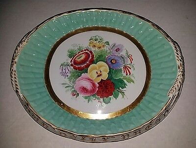 Antique Continental Hand Painted Platter