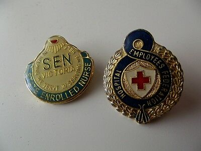 Hospital Employees Federation & SEN Victoria Badges