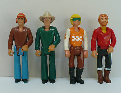 Fisher Price Adventure People Lot 1974 Posable Men Bell-bottoms Sideburns 70's