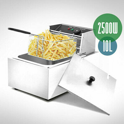 10L Bench Top Commercial Electric Deep Fryer Single Stainless Steel AU 2500W