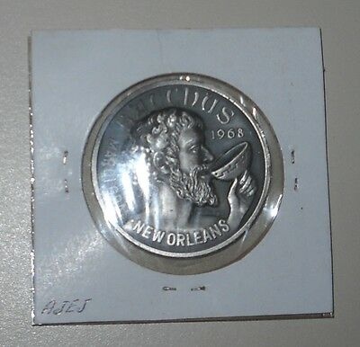 1982 Silver Mardi Gras Doubloon Silver Coin Krewe Of Bacchus