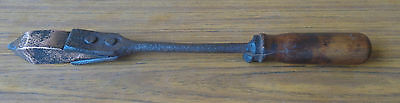 Antique Copper Solidering Iron. 40Cm Long - Old Tools