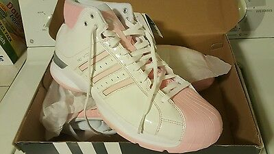 Adidas Pro Model '08 Women's Basketball Shoes US 12.5 White Pink Brand New
