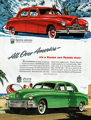 1947 Kaiser-Frazer -car ad -On the Beach or in the Mountains--[-199
