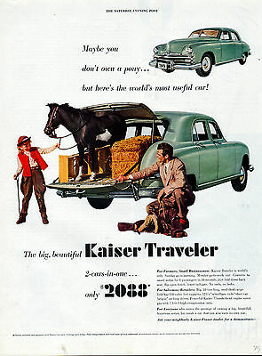 "1949 Kaiser ""Traveler"" car ad 2 cars in one-[-210"