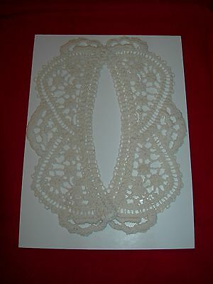 Civil War Victorian Collar Venise New Dress New  Natural Beige Tan Crochet