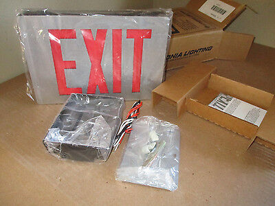 Lithonia Lighting LE S 1 R 120/277 Die Cast LED Exit Sign Single Sided *NEW*