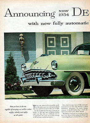 1954 Desoto car ad Power Flite Transmission 2 page  -557