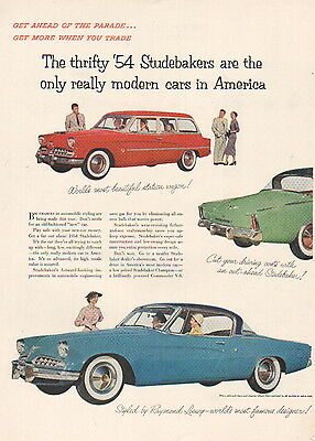 1954 Studebaker car ad only real modern car-117