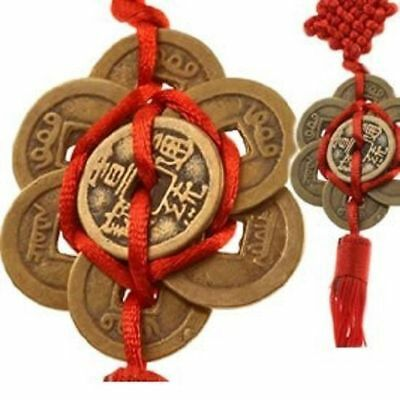 8 Lucky Coins Chinese Feng Shui Chinese Knot Hanging Ornament Home Decor