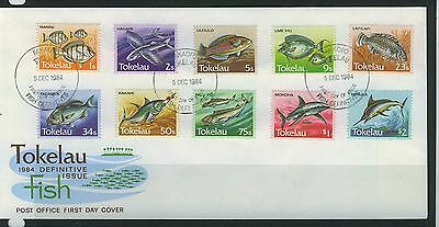 Tokelau Islands 1984 Fish First Day  Cover - Unaddressed