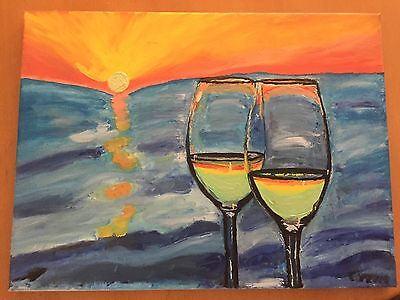 Oil Painting.. 'an Aussie Sunset'