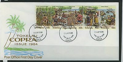 Tokelau Islands 1985 Copra Industry First Day  Cover - Unaddressed