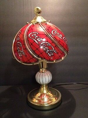 COCA COLA 4 Way Touch Lamp Glass Shade Panels