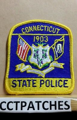 Connecticut State Police (Small) Shoulder Patch Ct