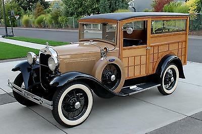 1930 Ford Model A Special Delivery 1930 Ford Model A Wood Panel Special Delivery, LOVELY RESTORATION, BEAUTIFUL!