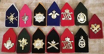 13 x Netherlands Dutch Military Army Trade Rate Collar Badges! 11 Different!