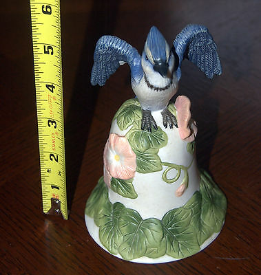 Avon 2001     Collectible  Blue Jay Porcelain Bell
