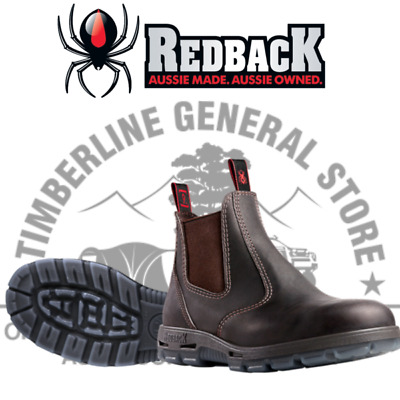 REDBACK UBOK Claret Non Safety Work Boots Bobcat Oiled Kip Elastic Sided