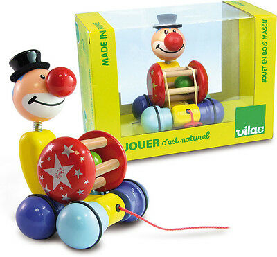 Grantoon The Clown Pull Toy By Vilac
