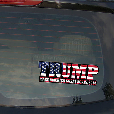 "Donald Trump Make America Great Again Bumper Sticker Decal 7"" Long Cart"