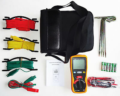 CEM DT-5300 Earth Ground Resistance Ohm DC AC Volt Meter NEW w/ Case FREE SHIP