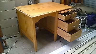 1940's/50's? 3 Draw Timber Desk