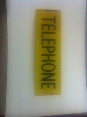 Telephone Glass Sign From Old Red Phone Box (Pmg)