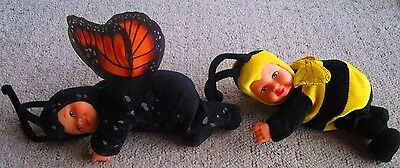 Pair of Anne Geddes Baby Dolls-one Bumblebee and one Butterfly