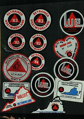 14 Different Nice Westmorland Coal Co. Coal Mining Stickers # 927