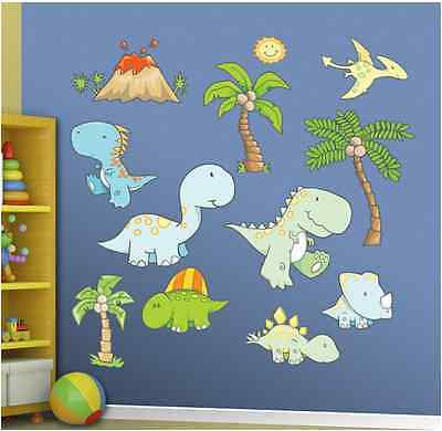 Murals For Kids Room Wall Decal Graphic Cute Dinosaurs Home Interior Design NEW