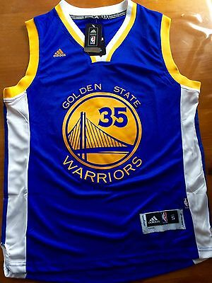 Kevin Durant Golden State Warriors NBA Jersey Road Style Men's Size Small