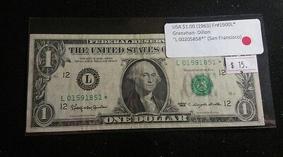 USA 1963 One Dollar Bill *STAR REPLACEMENT* Really Nice Note Granahan-Dillon