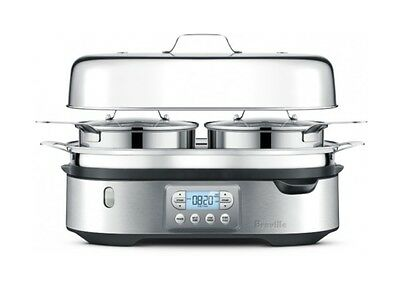 Food Steamer Single Layer Independent Zones Meal Cooker Stainless Steel Base New