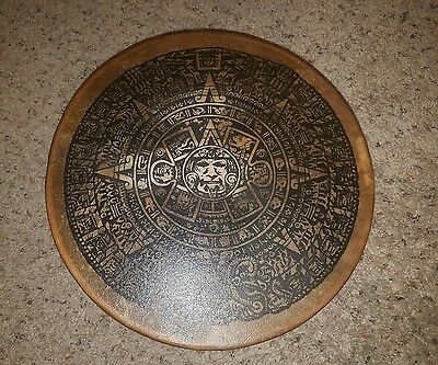 ALL ONE TRIBE NATIVE AMERICAN INDIAN DRUM TAOS N.M. Aztec clean free ship 14 in.