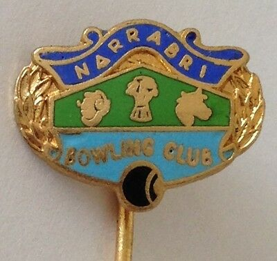 Narrabri Bowling Club Pin Badge Rare Vintage (L5)