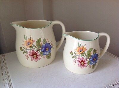 A Pair Of Vintage Ellijah Cotton Lord Nelson Ware Jugs