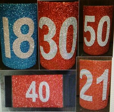 BIRTHDAY - HIGH GLITTER - BLING - CELEBRATION - STUBBY HOLDERS -CHOOSE from list