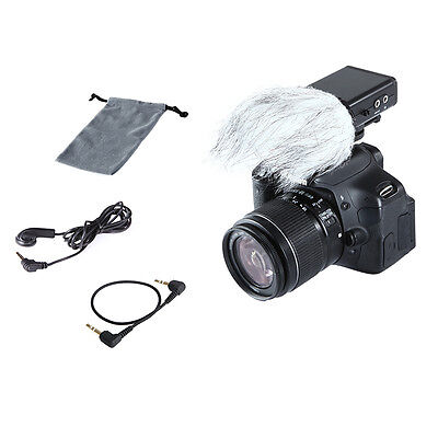 Bi-directional BY-SM80 Stereo Microphone For Canon DSLR Camcorder Perfect RM5P