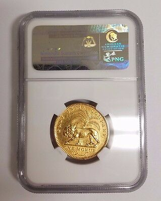 1841.(C) British East India Company Gold 1 Mohur (30 Rupees) Ngc Au Details Rare