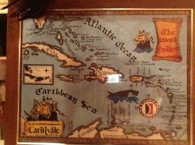 Framed 'The West Indies' Map