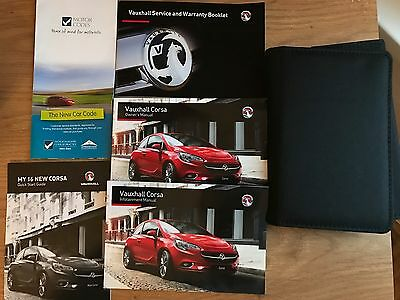 VAUXHALL CORSA Owners Manual HandBook+Service Wallet Genuine