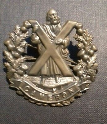 British Army Cap Badge. The Queen's Own Cameron Highlanders.