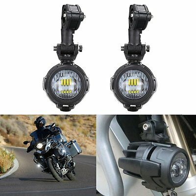 Cree LED Auxiliary Fog Light Assemblie Spot Driving Lamp 40W For BMW R1200GS ADV