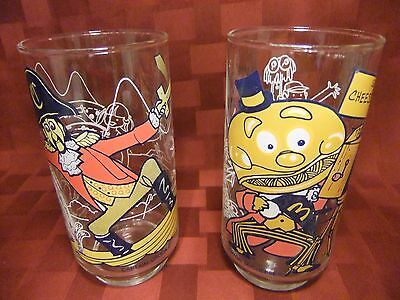 Vintage McDonald's 1977 ~ McDonaldland Action Seies~ Set of 2 Glasses