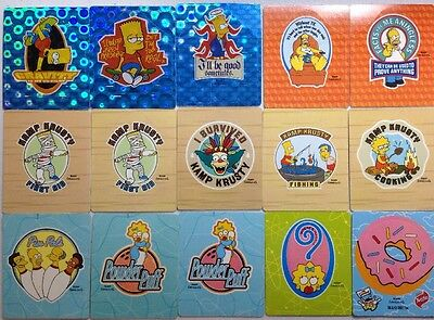 The Simpsons Bowl-a-Rama - 15 Assorted Tazos