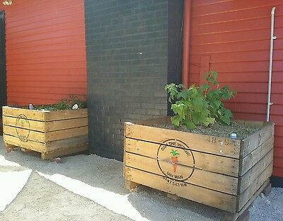 raised veggie / herb garden bed planter box apple crates