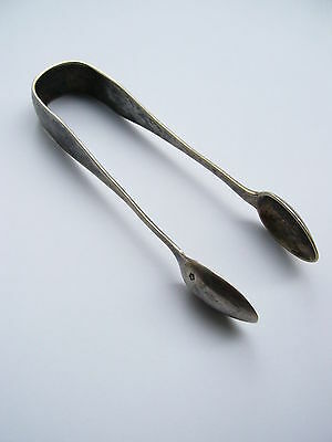 RRR Antique Austrian Large Silver.800 Sugar Tongs-With Monogram
