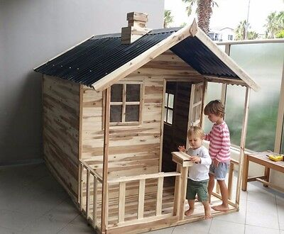 Havana Solid HARDWOOD Timber Kids Cubby House - Del Available + FREE kitchen set
